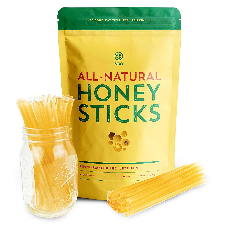 SB Organics All Natural Honey Stix