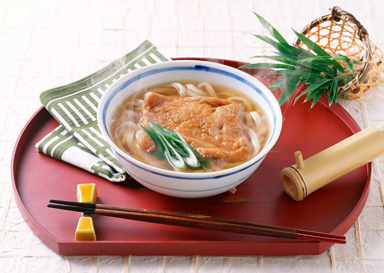 Kitsune Udon in a bowl