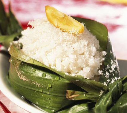 Thai rice pudding
