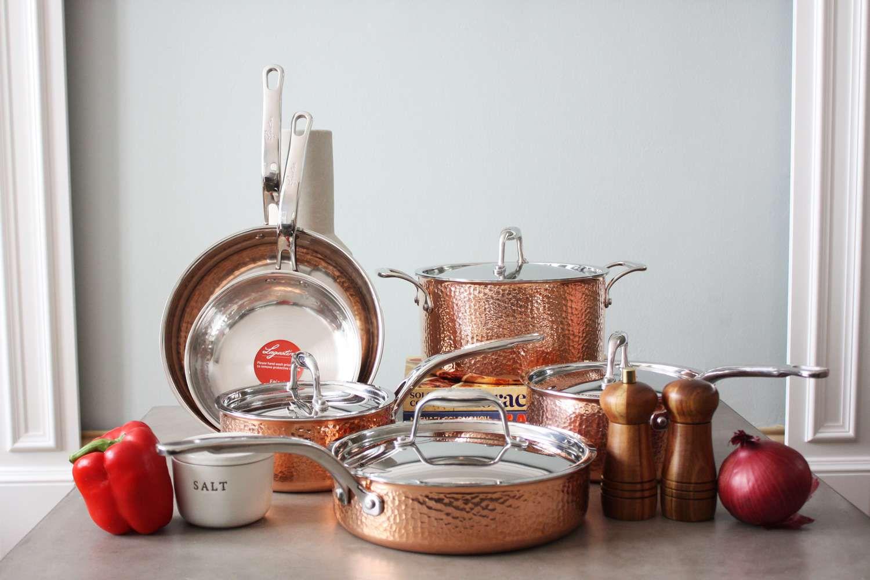 Lagostina Hammered Copper Set