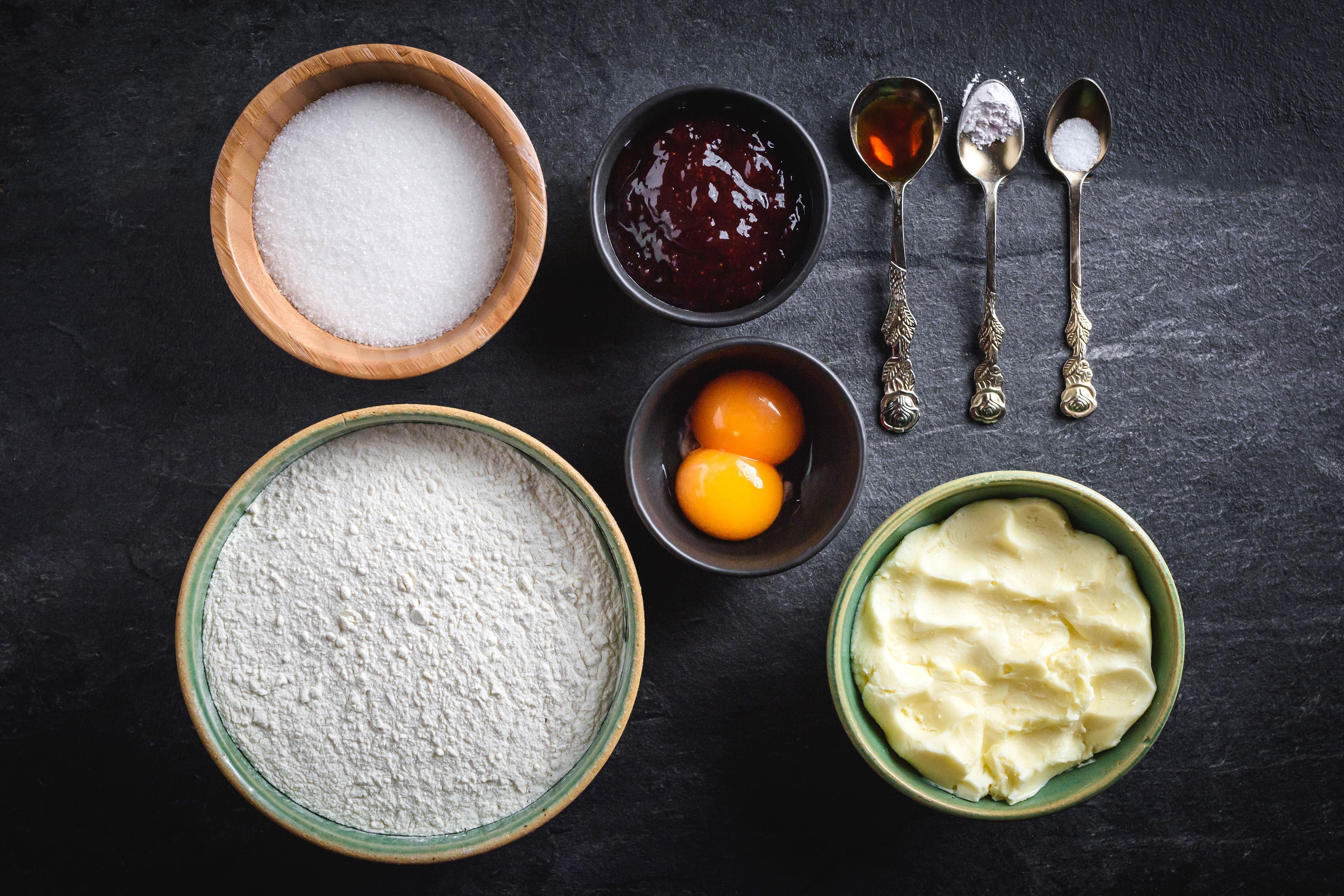 Ingredients for Polish butter cookies