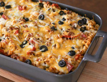 Loaded Pizza Pasta Casserole