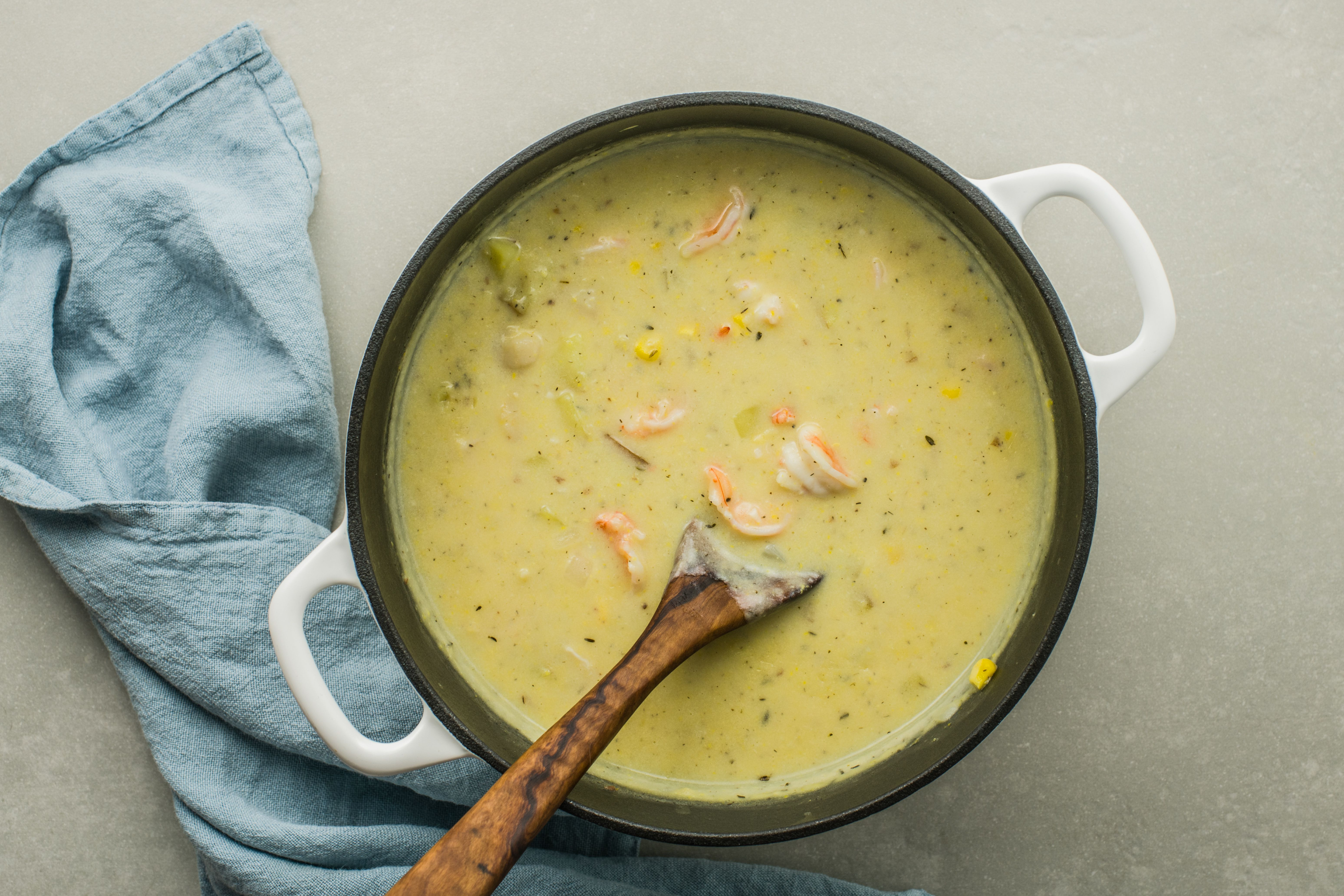 Return mixture to soup