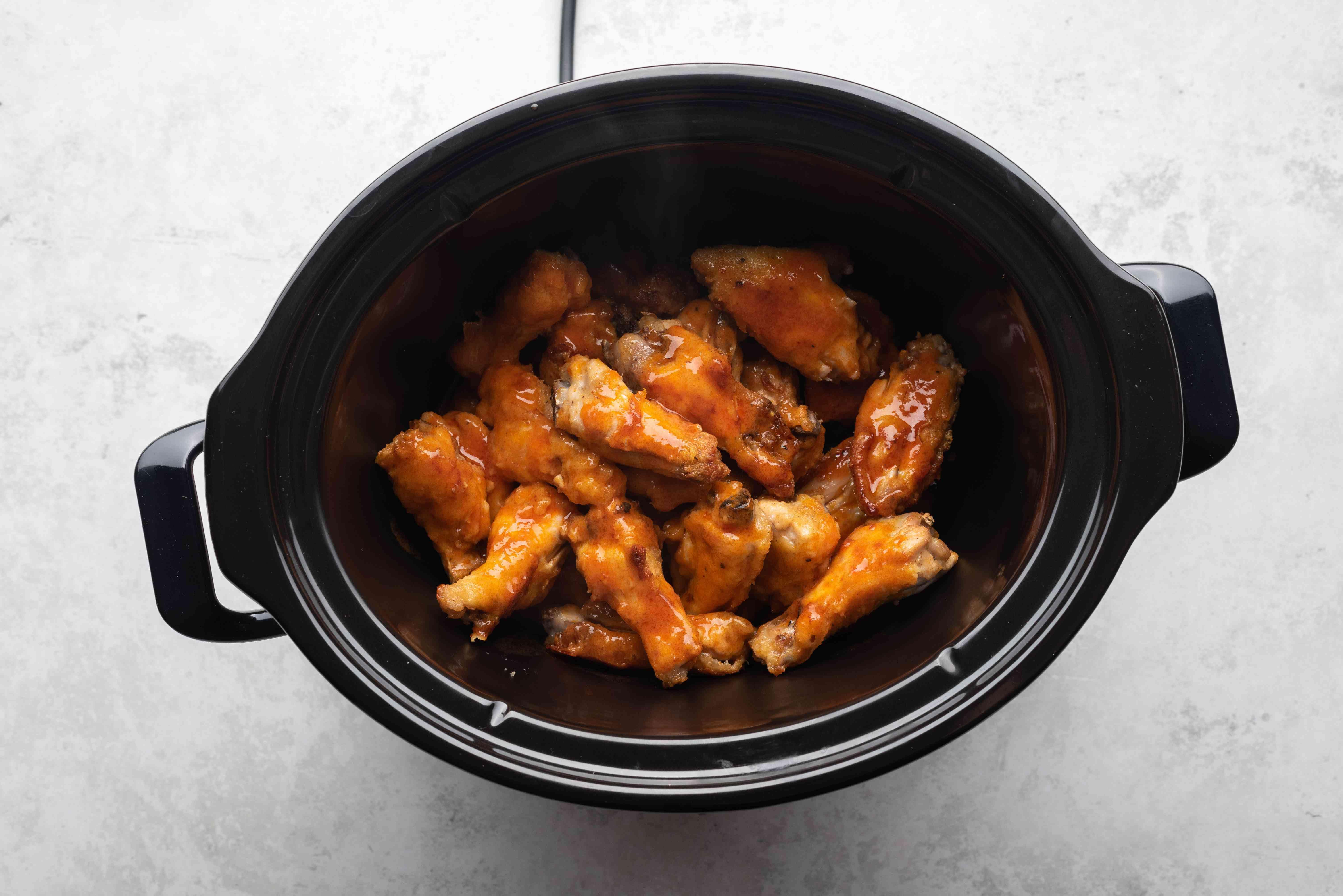 chicken wings in a crockpot