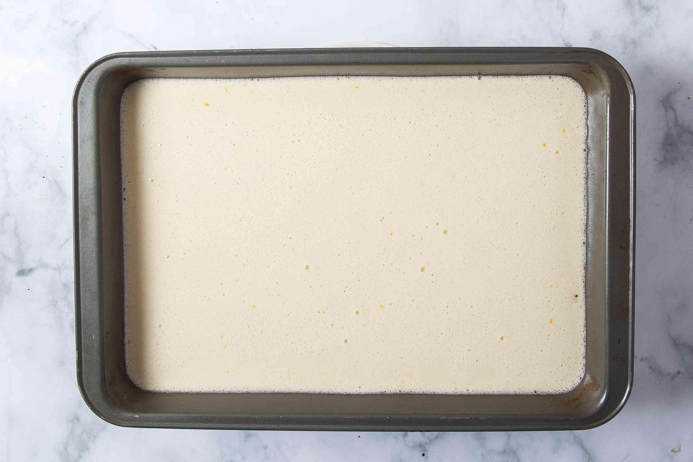 Meyer Lemon Bars ready to be baked