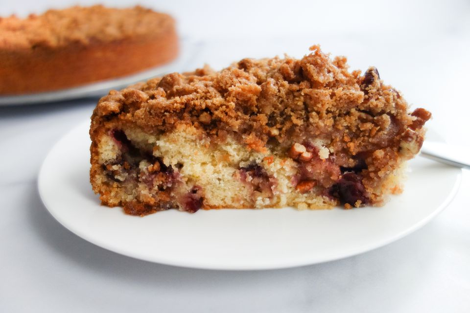 Fresh Cherry Crumb Cake