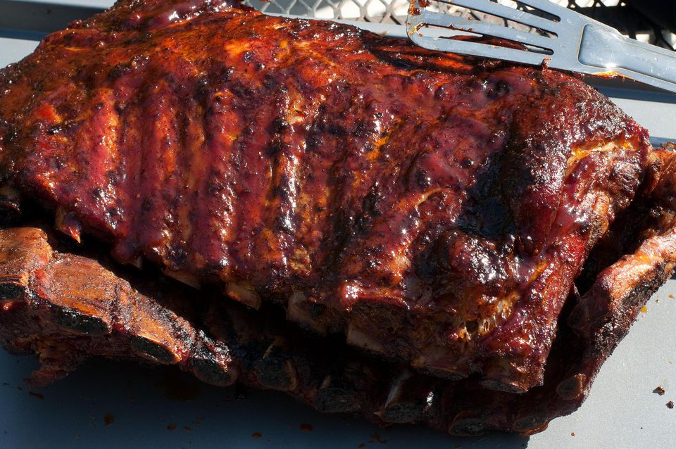 Hoisin-glazed barbecue pork spareribs