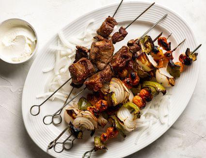 Grilled Lamb Shashlik Kebabs