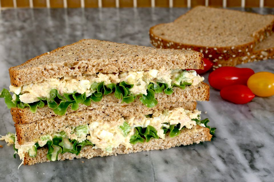 Luncheon tuna salad sandwiches