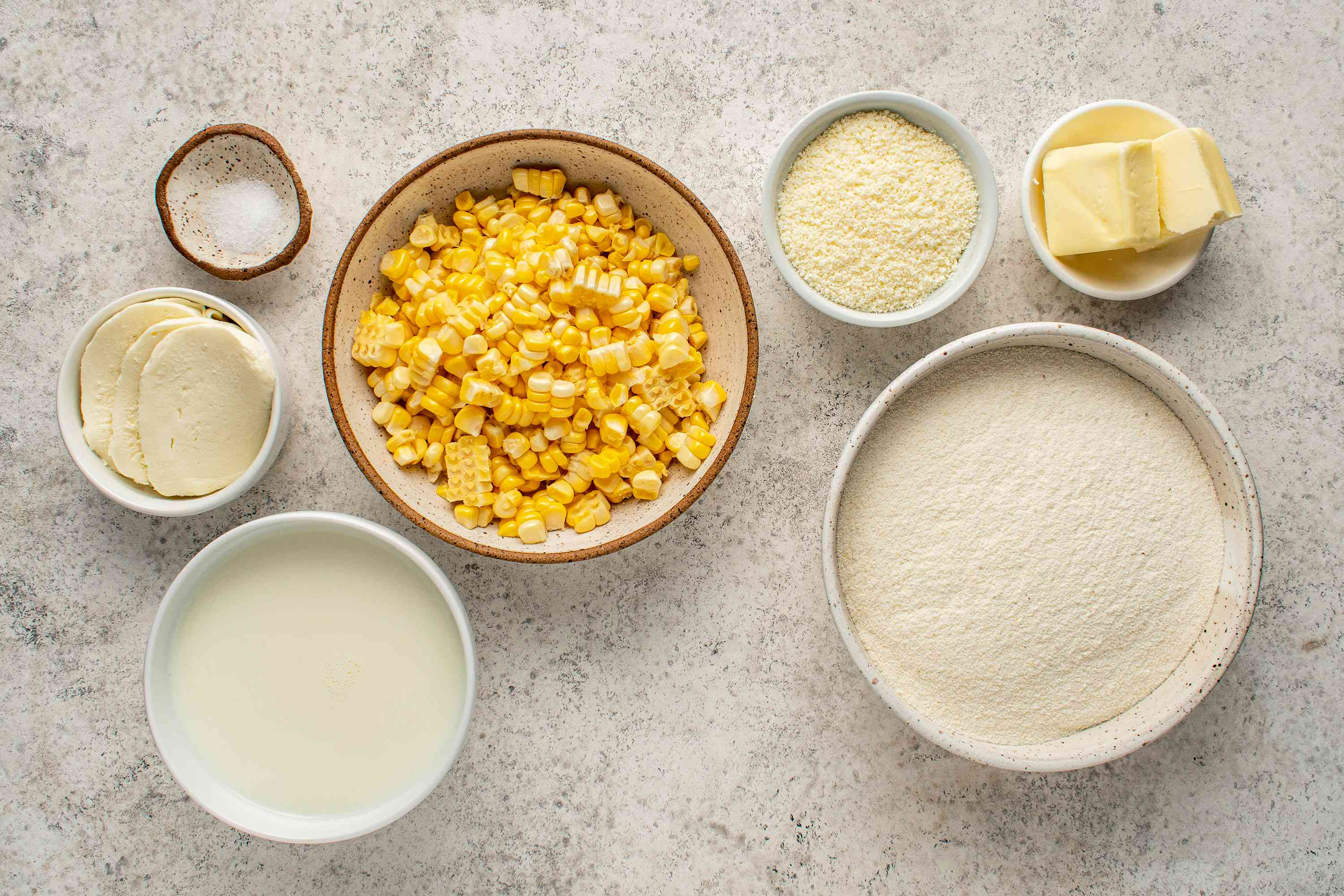 Arepas de Choclo (Sweet Corn Cakes With Cheese) ingredients