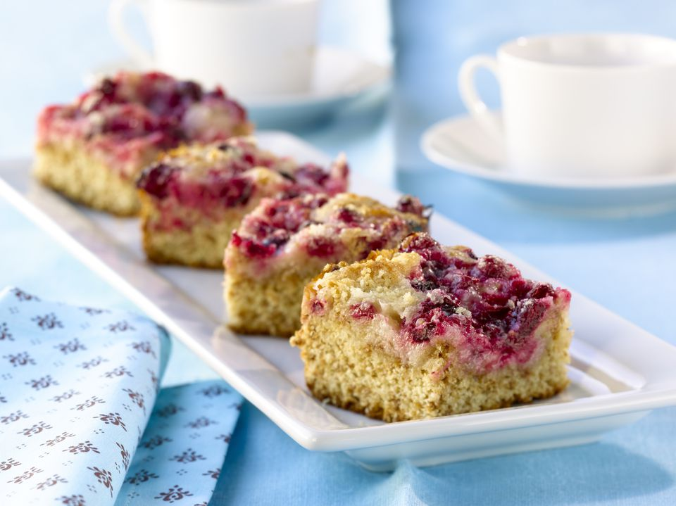 Fresh Cranberry Cake Bars Dessert Recipe