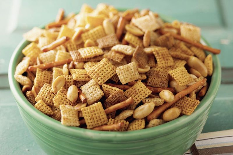 Chex Party Mix in a Crockpot