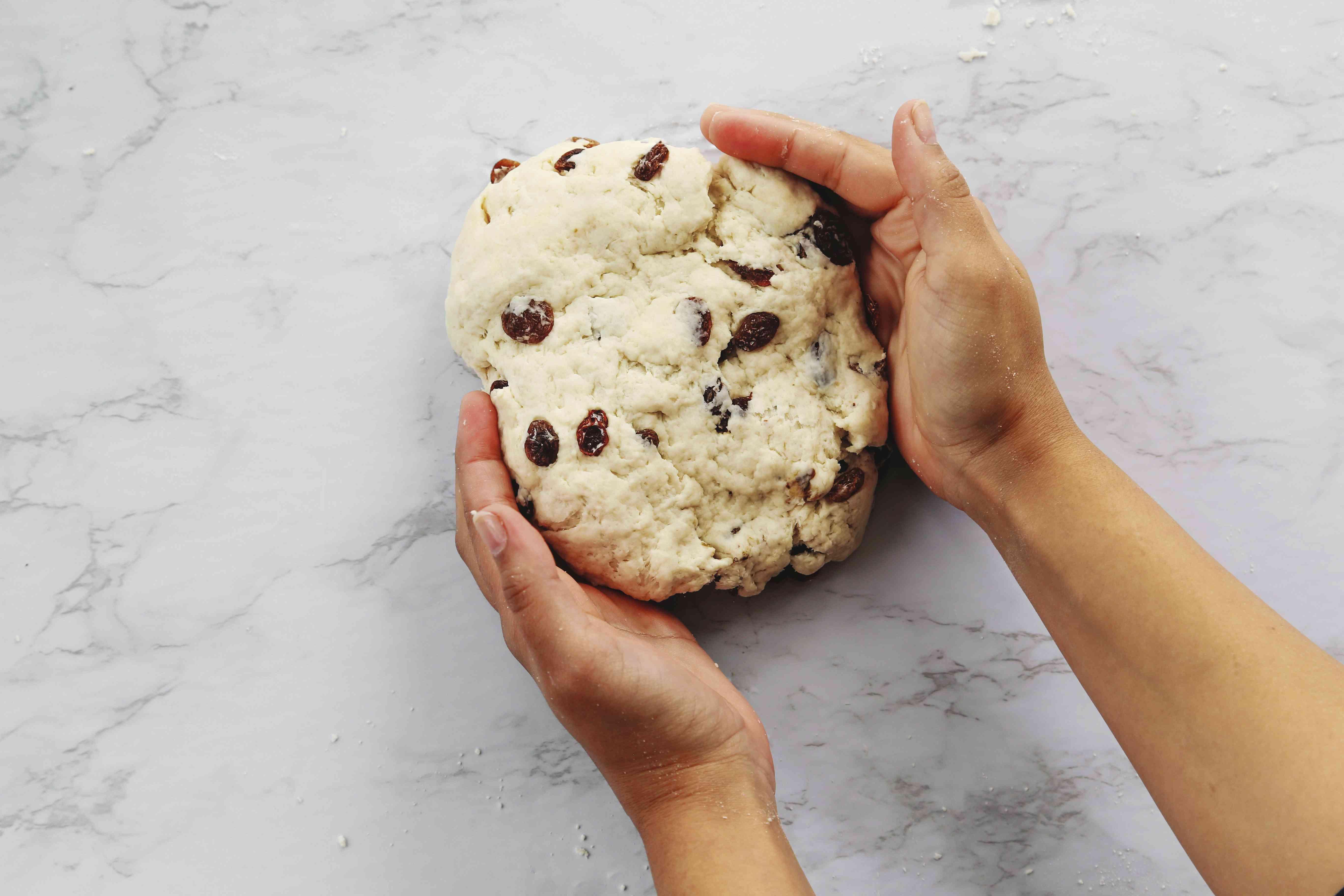 scones dough on a counter