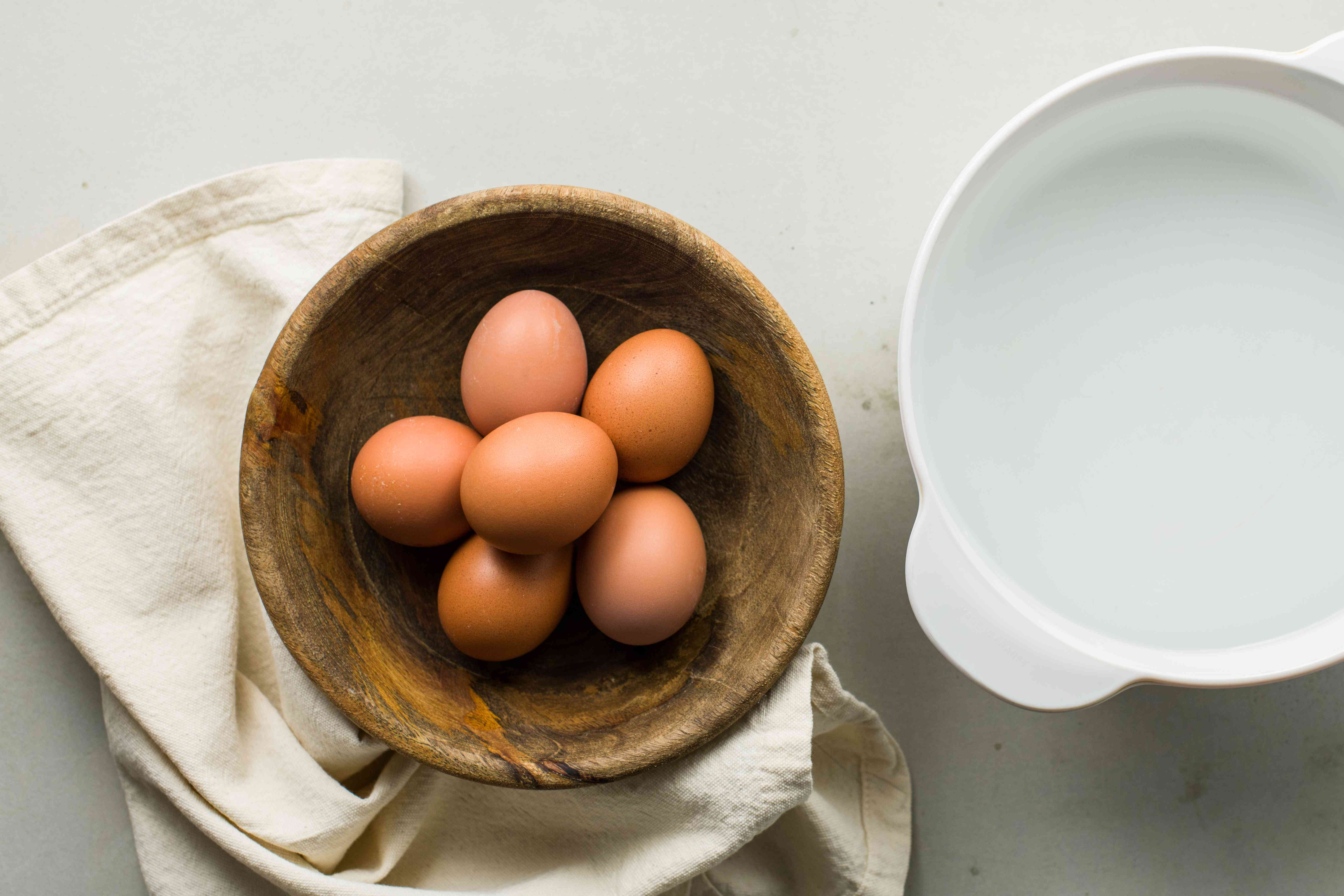 Eggs and water