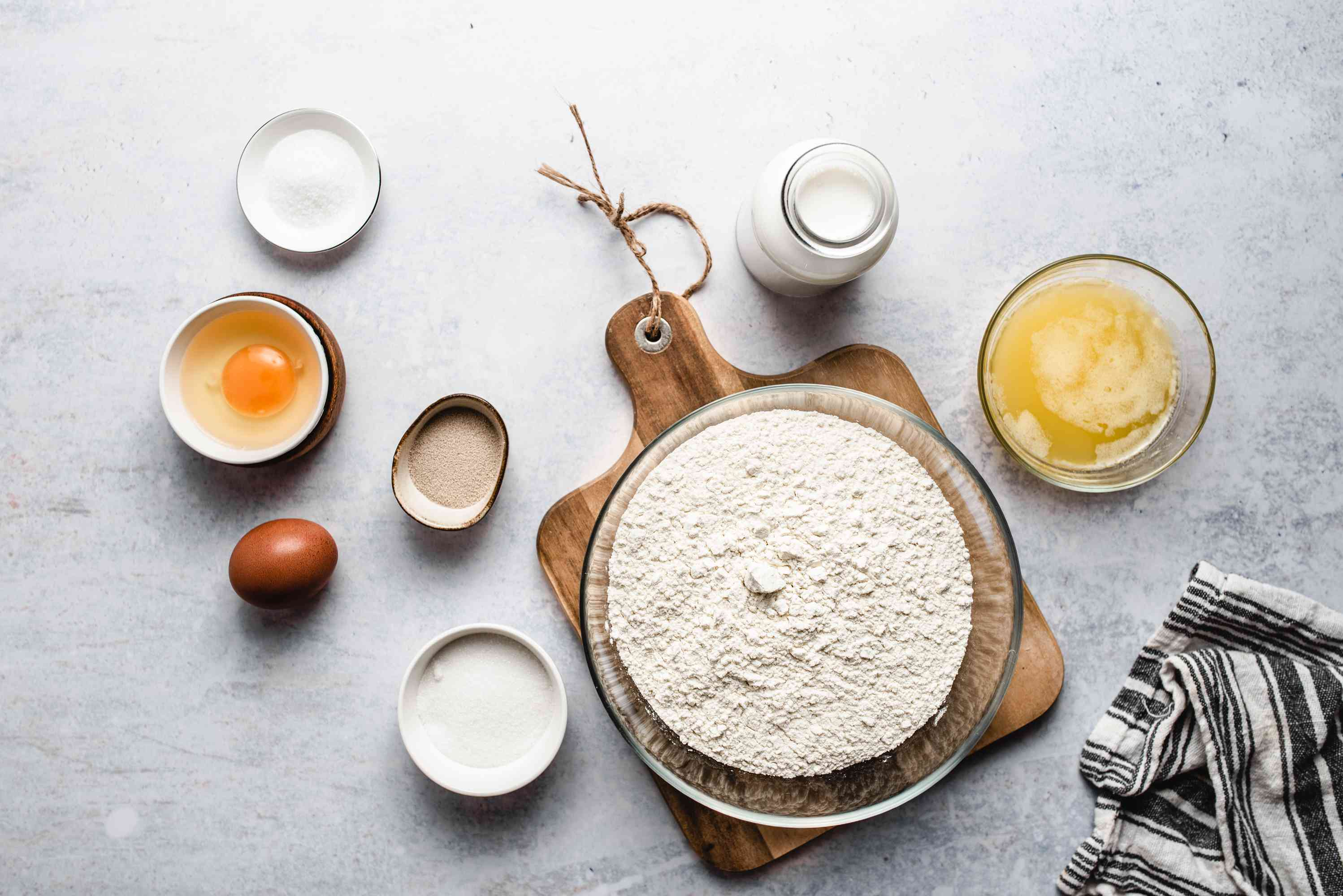 Ingredients for Southern style butter yeast rolls