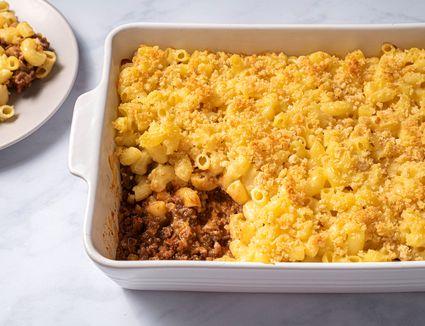 Sloppy Joe Macaroni and Cheese Casserole