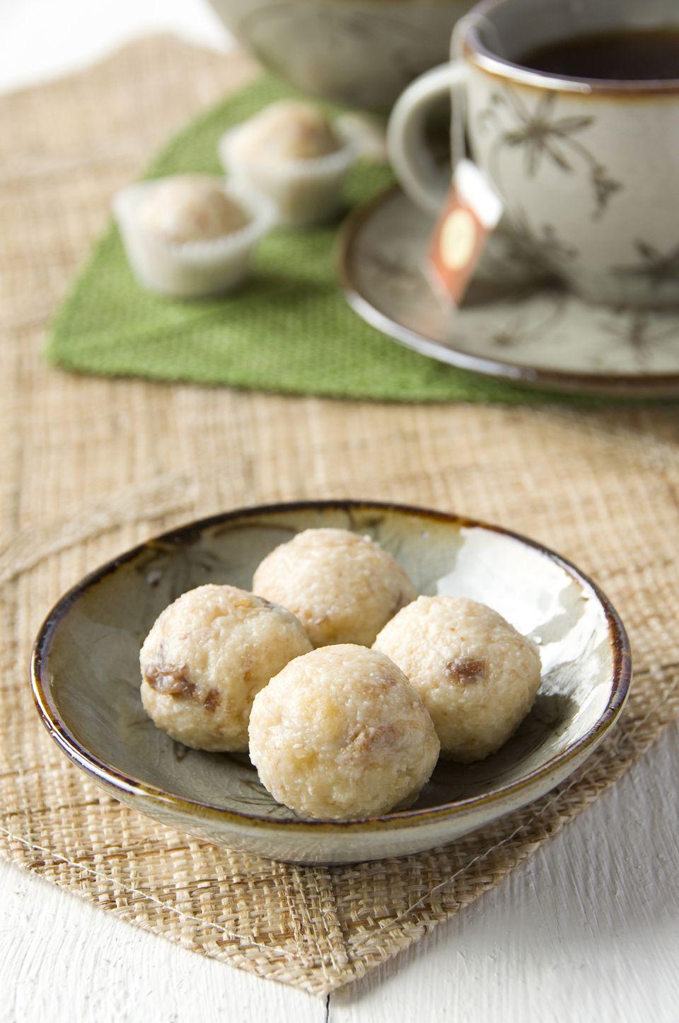 White Chocolate and Panettone Truffles