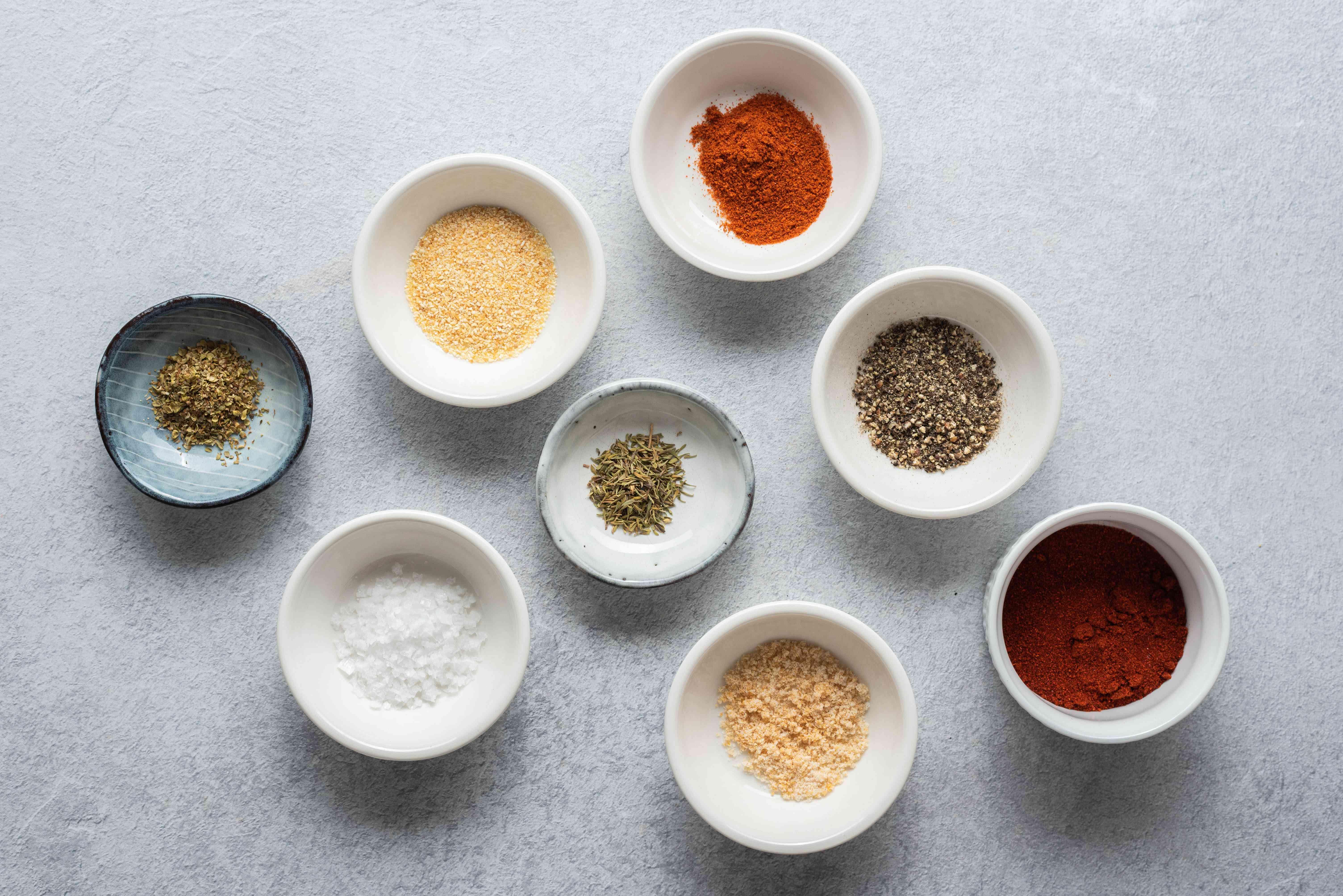 Glackened seasoning ingredients