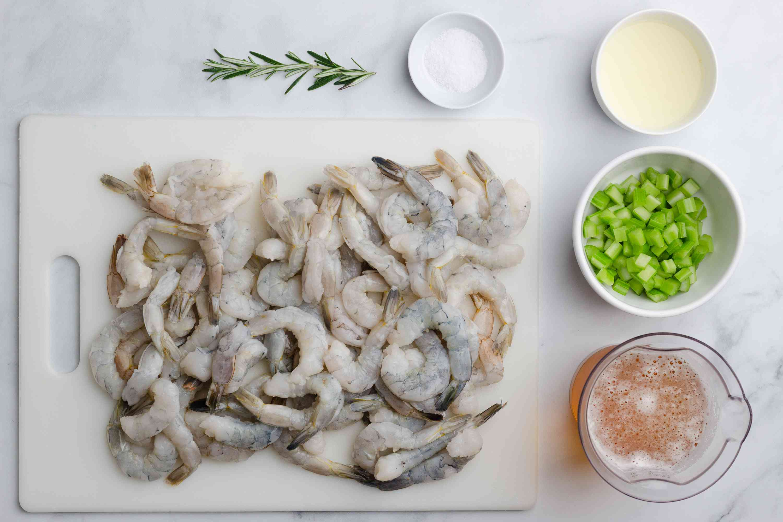 Beer-Steamed Shrimp ingredients