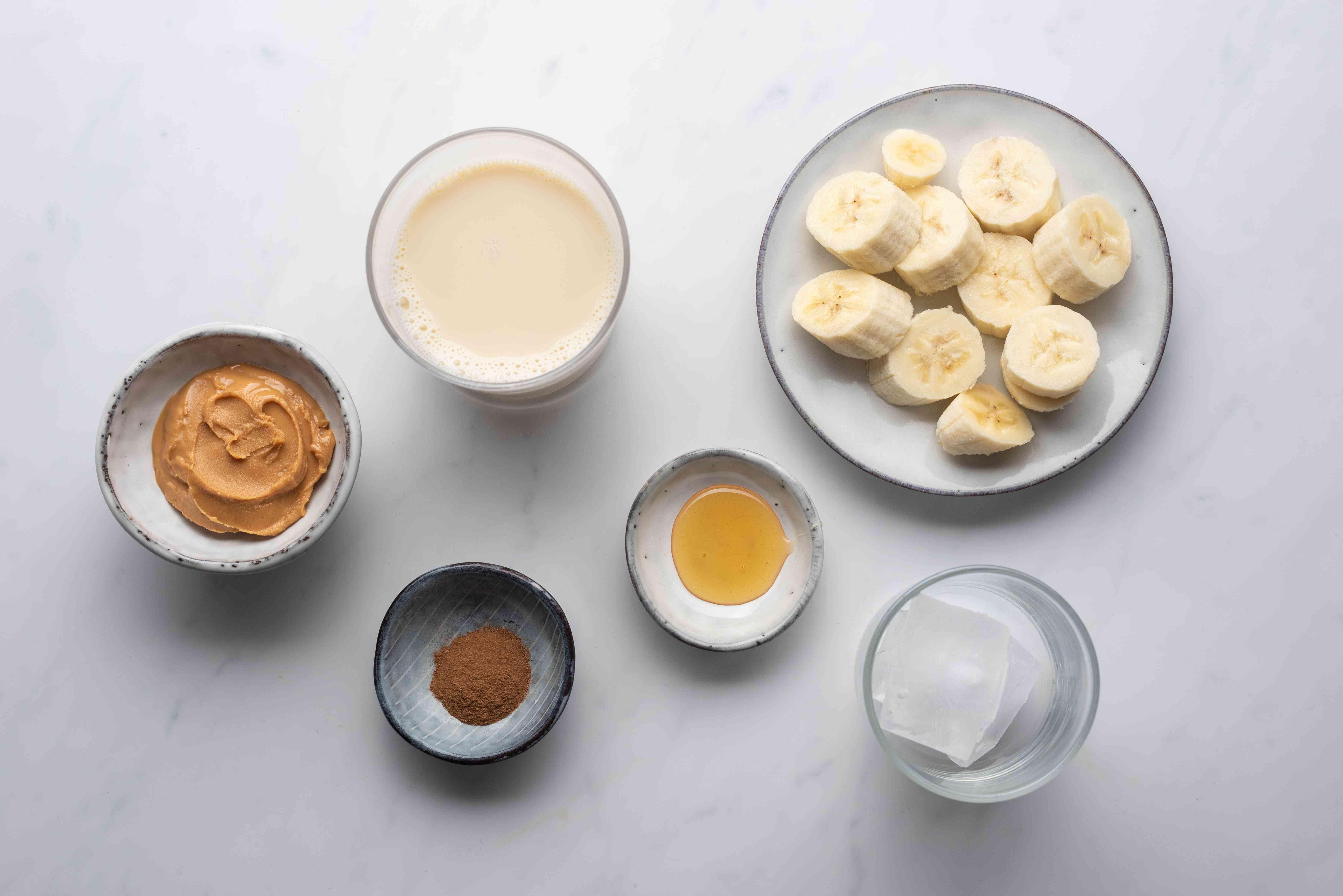 Peanut Banana Cinnamon Smoothie ingredients