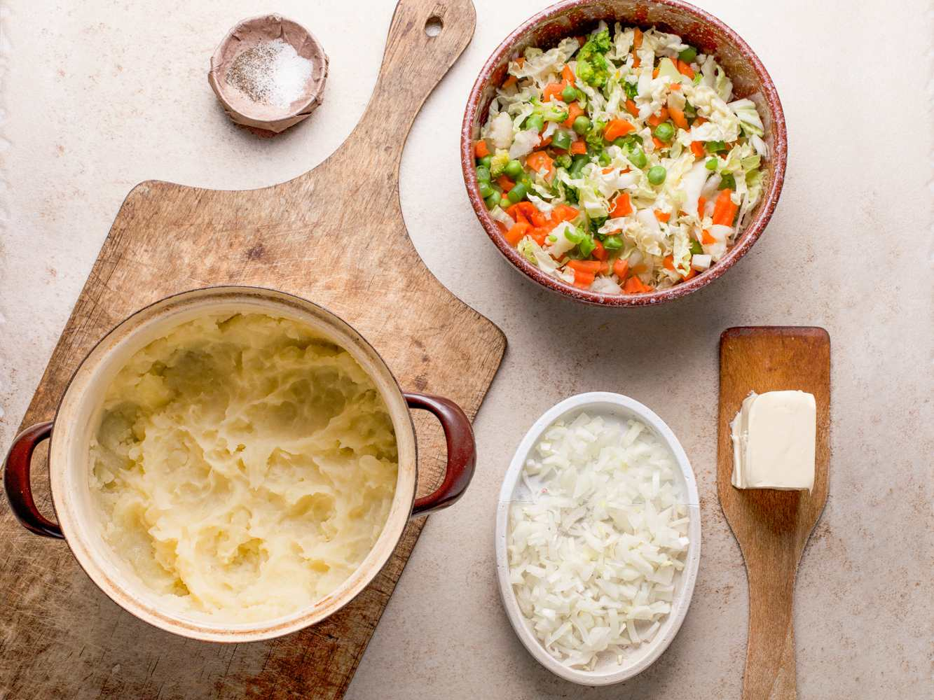 Traditional bubble and squeak recipe ingredients