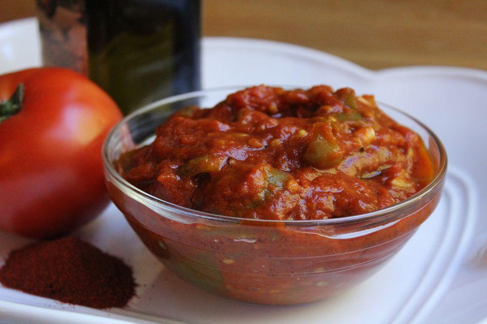 Matbucha - Moroccan Tomato and Pepper Salad