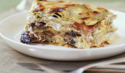 Plate of vegetable lasagna
