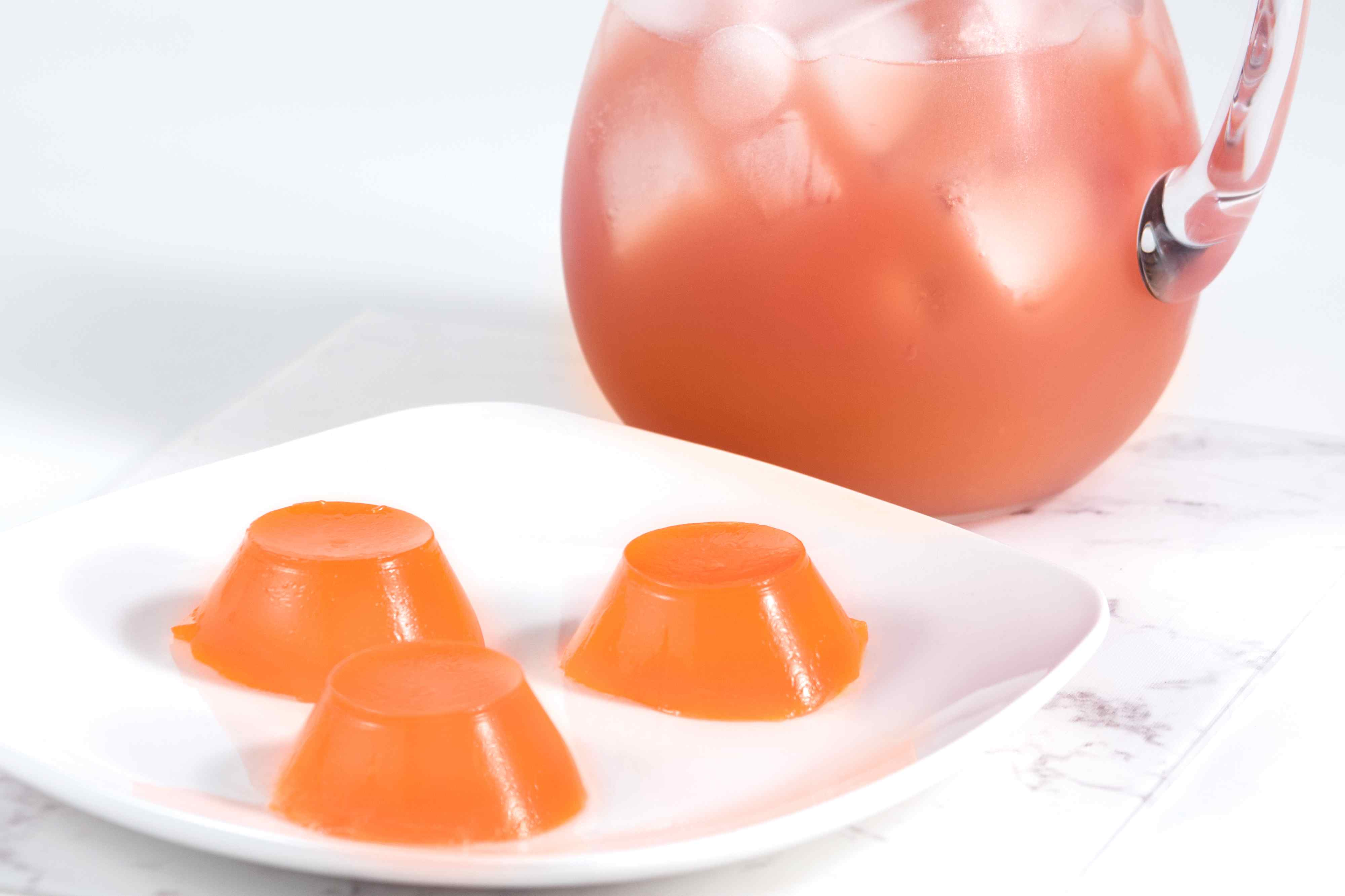 Sex on the beach jello shots in an orange