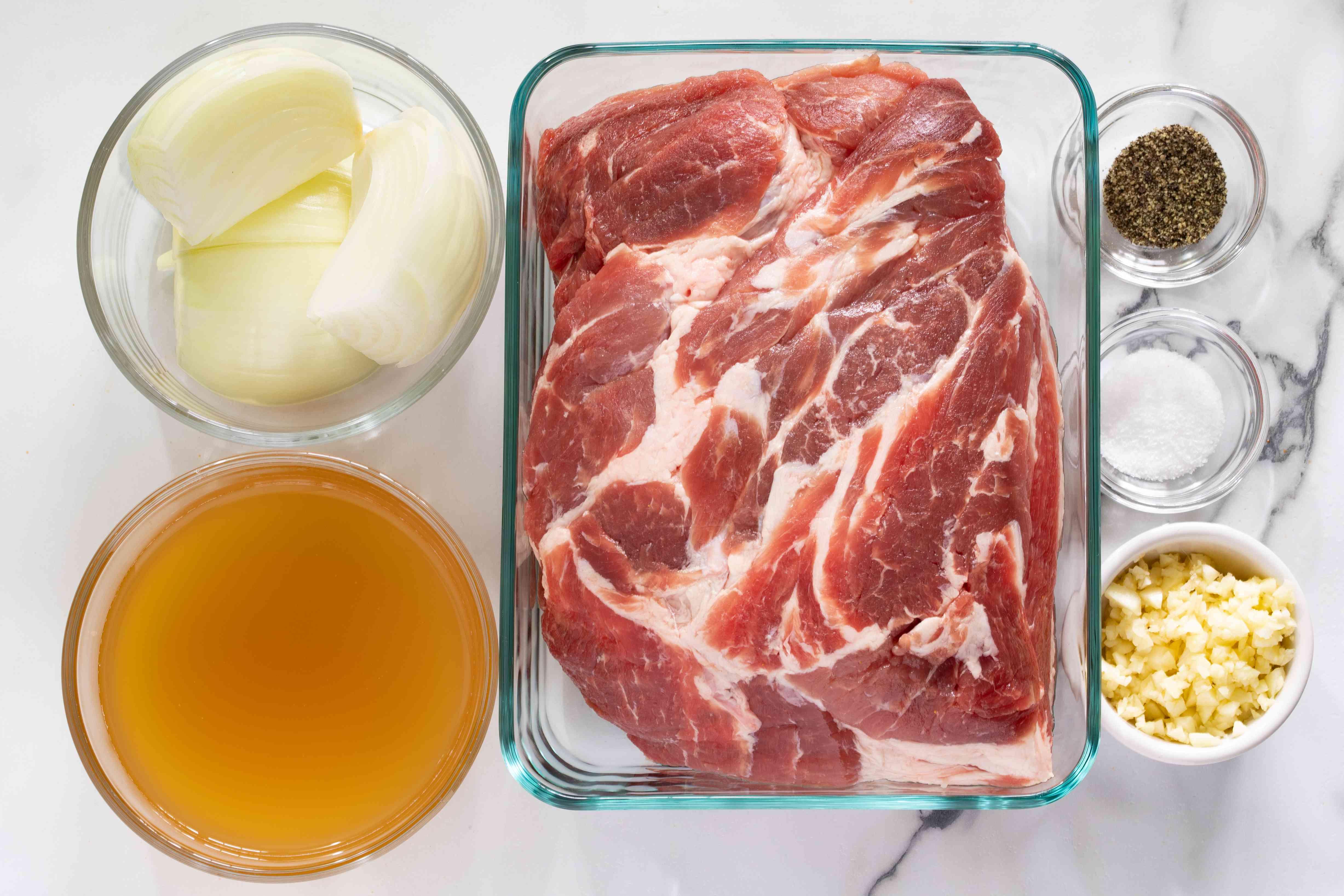 Ingredients for Instant Pot pork shoulder