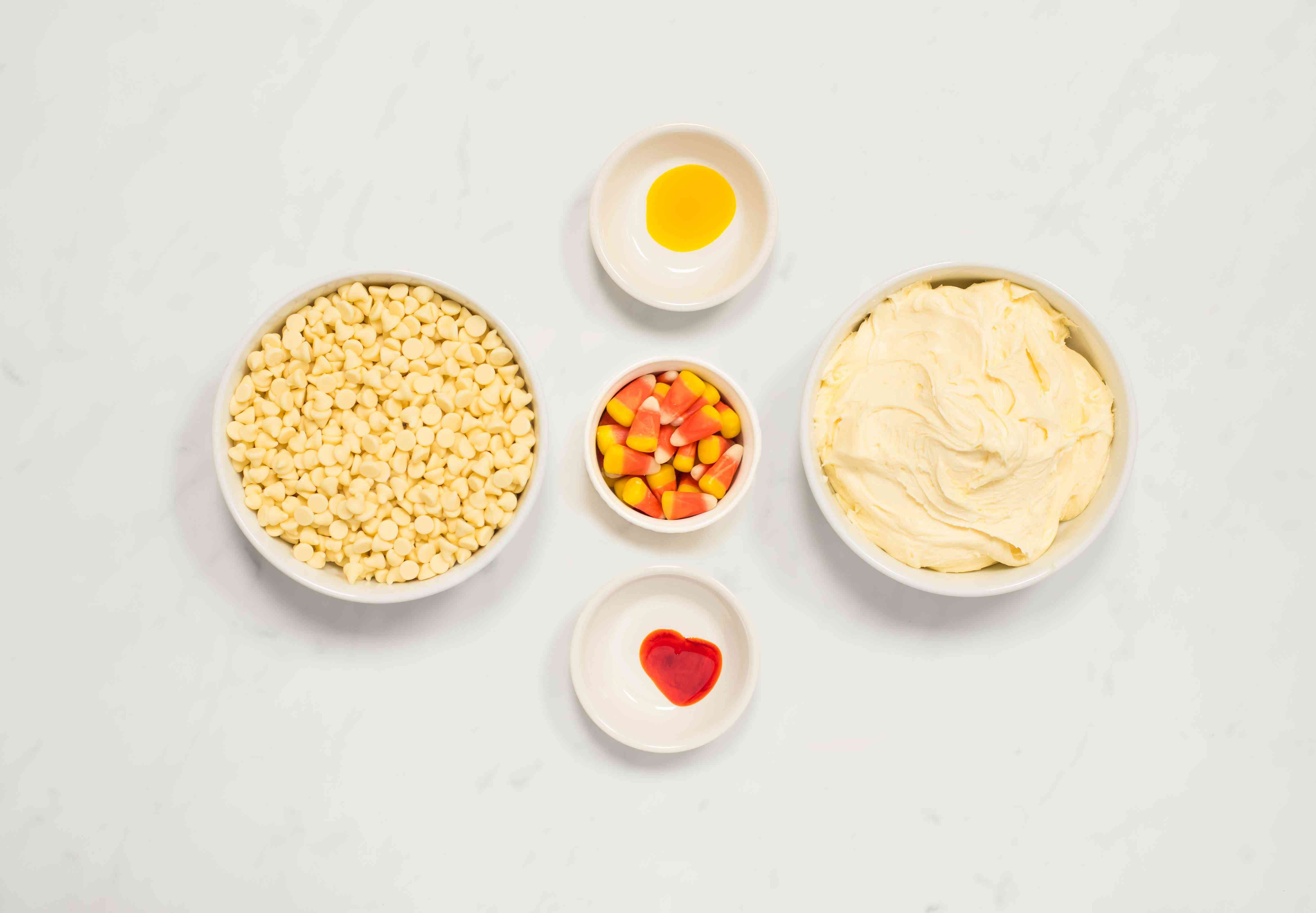 Candy corn fudge ingredients