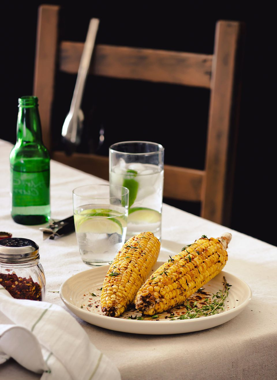 Grilled Corn with Shallot-Parsley Rub