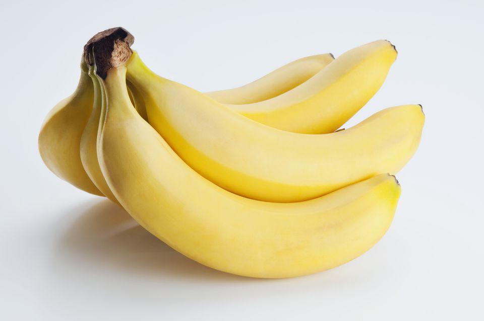 Close-up of a hand of bananas