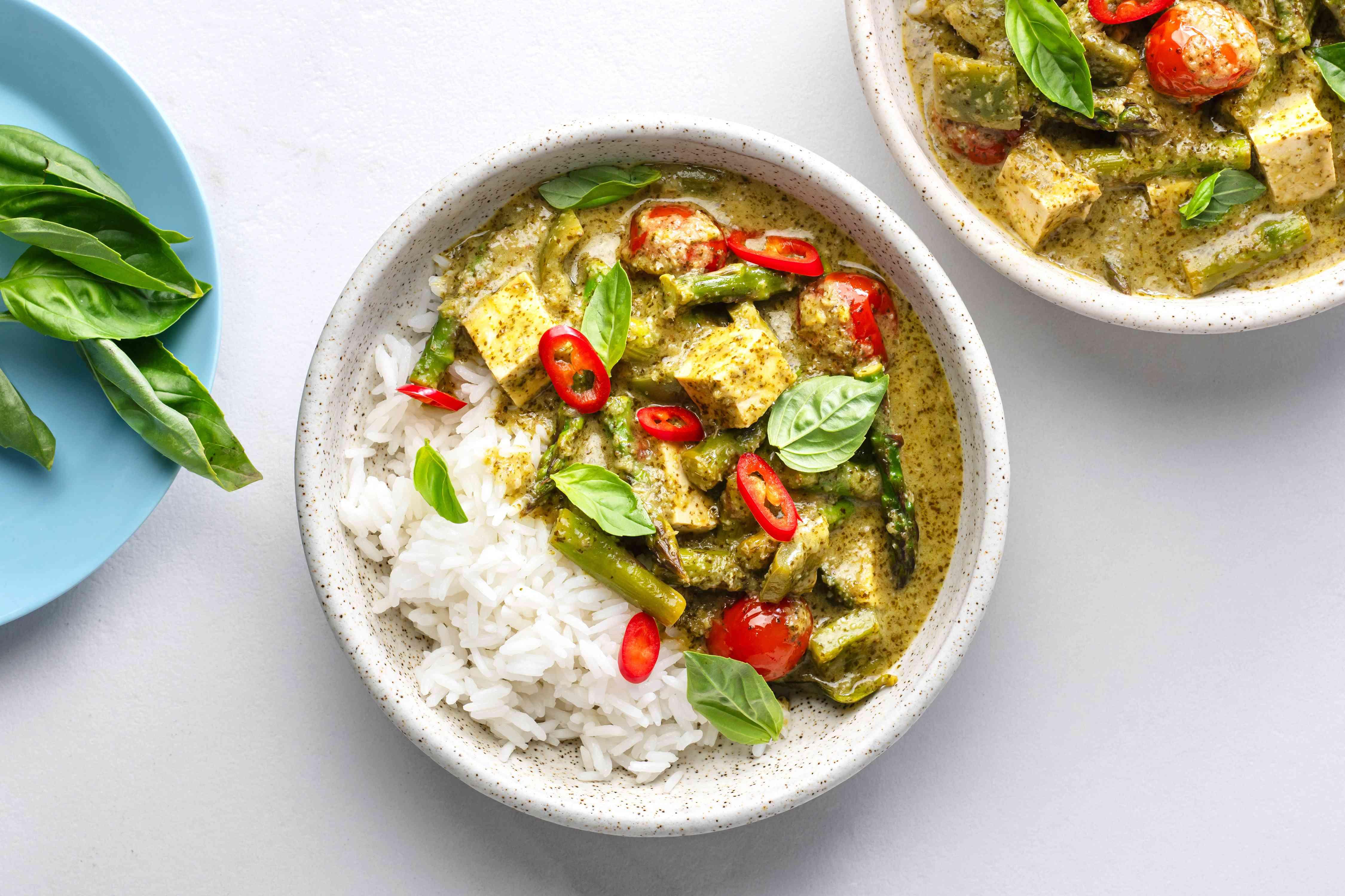 Vegetarian Thai Green Coconut Curry