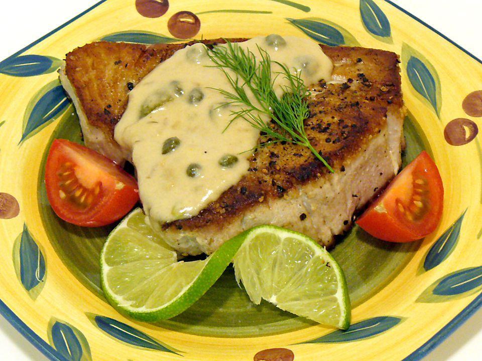 Tuna Chops With Lemon Cream Sauce