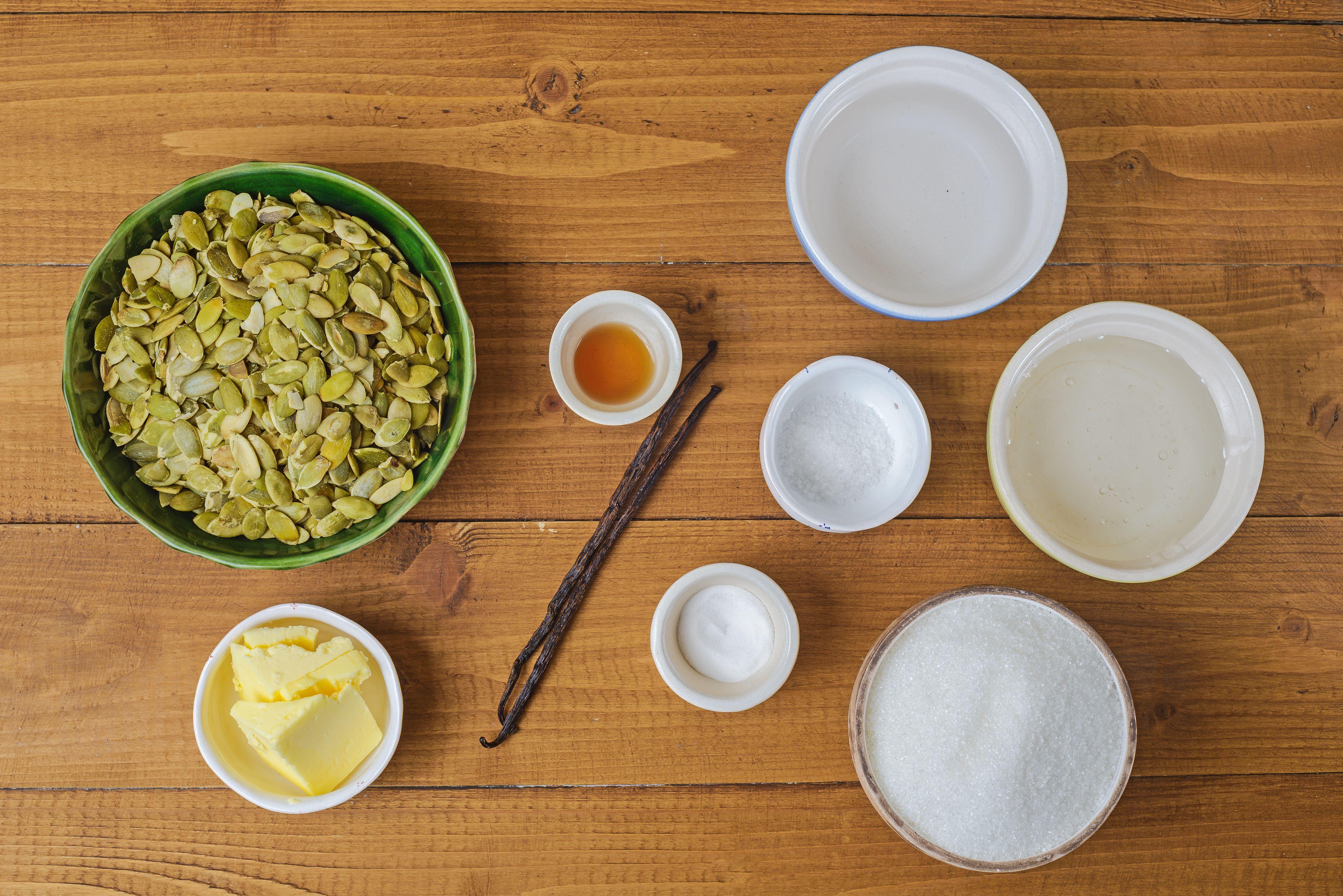 Ingredients for pepita brittle