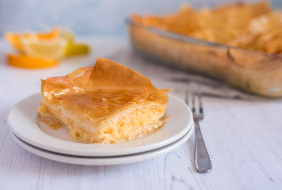 Custard pie with phyllo recipe