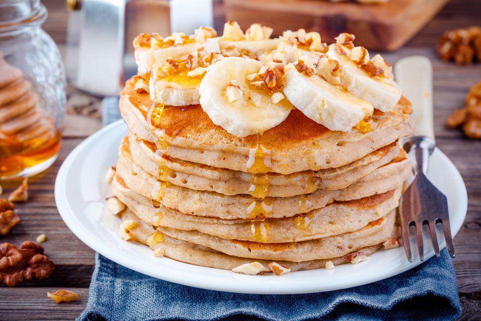 Vegan pancakes with banana