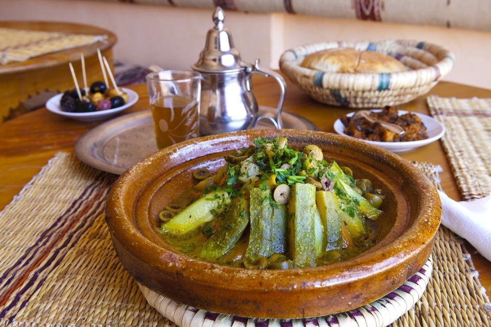 Moroccan Tagine with Zucchini