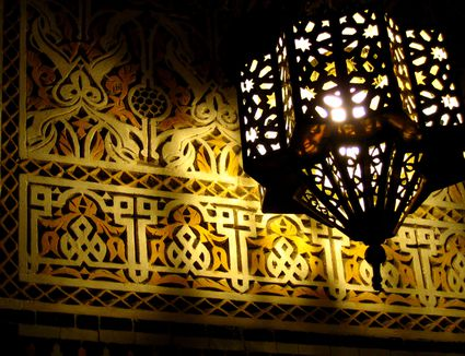 Moroccan Lantern and Engraving