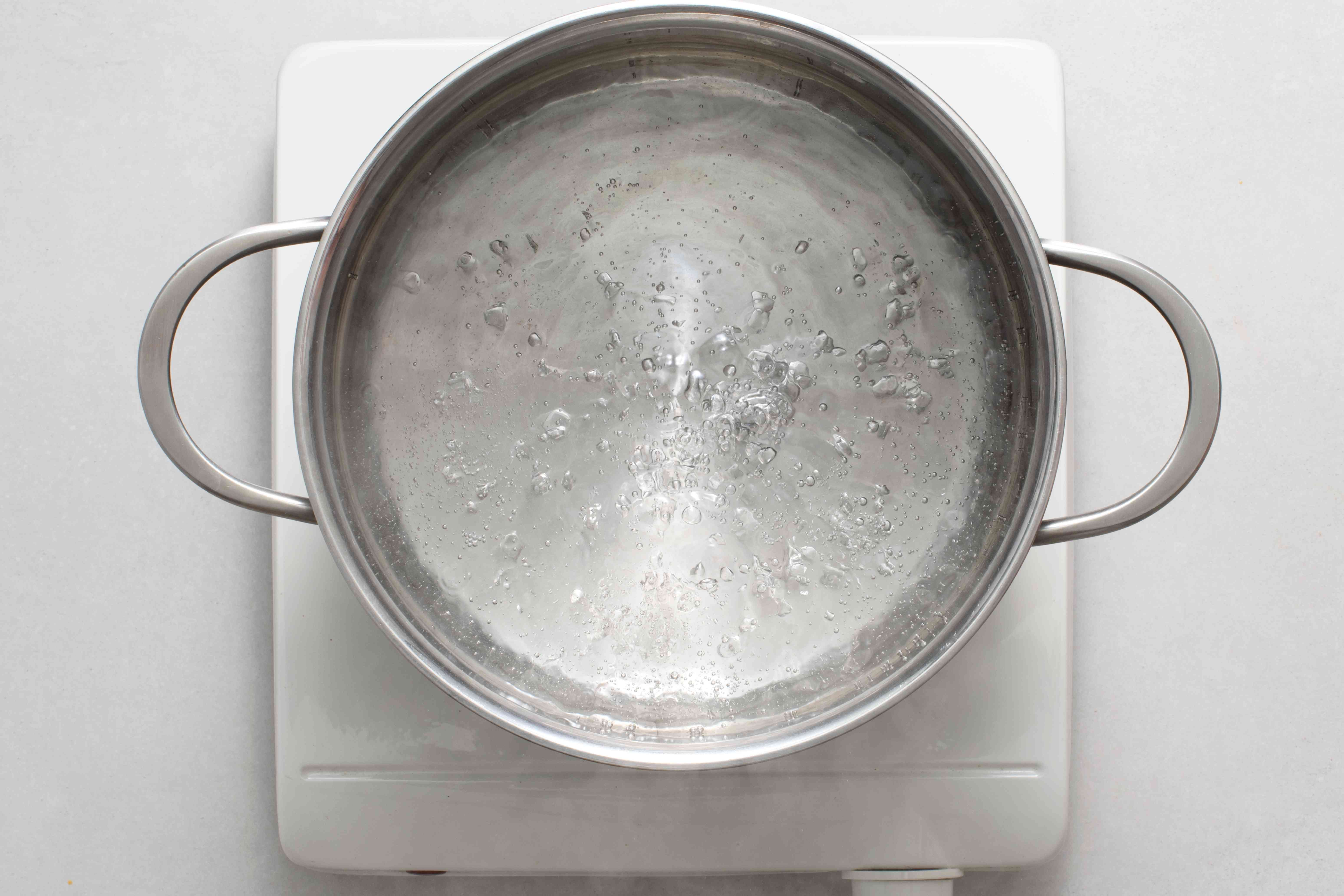 water boiling in a pot