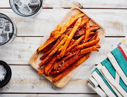 Low fat baked sweet potato fries