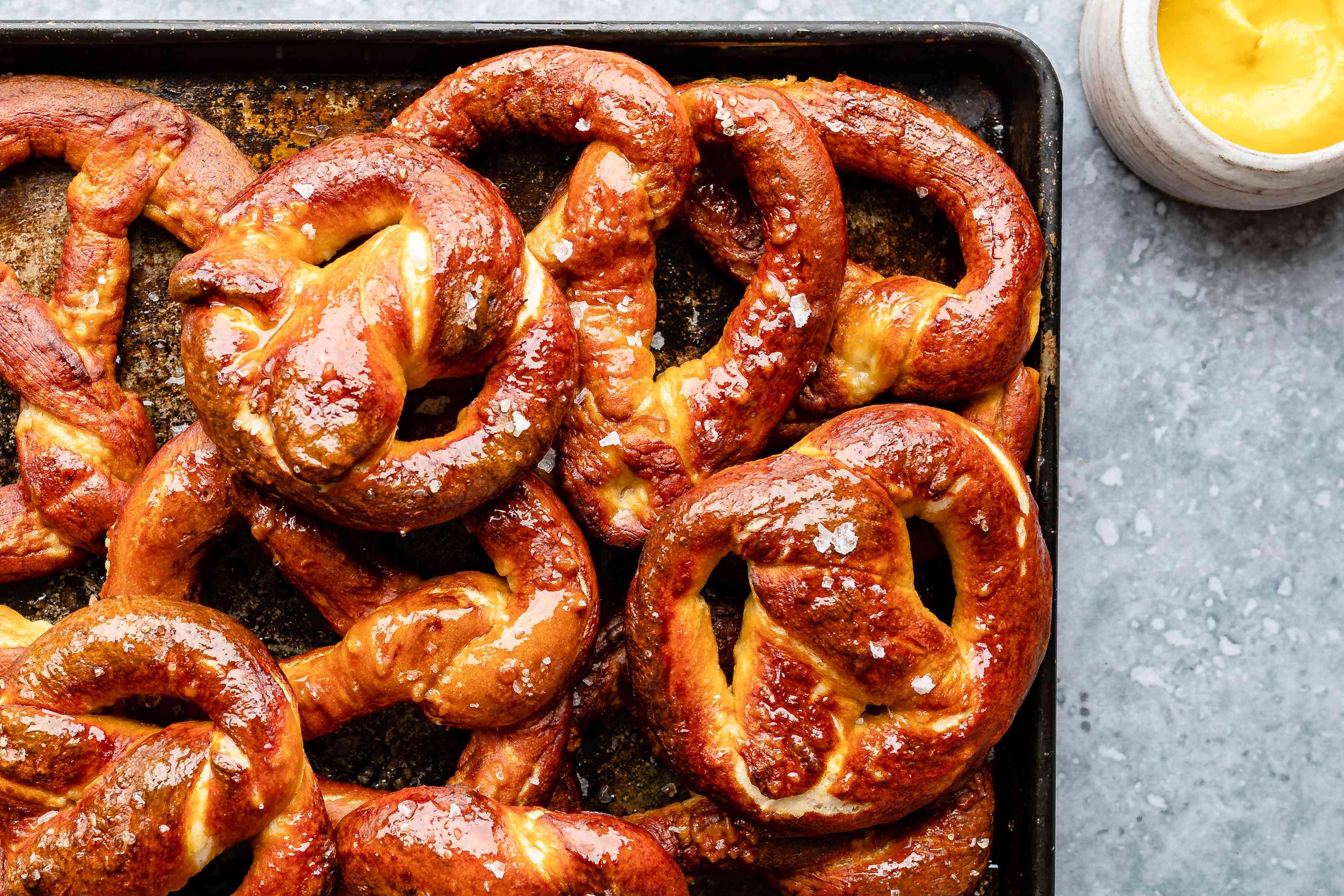 Allow pretzels to cool and serve at room temperature