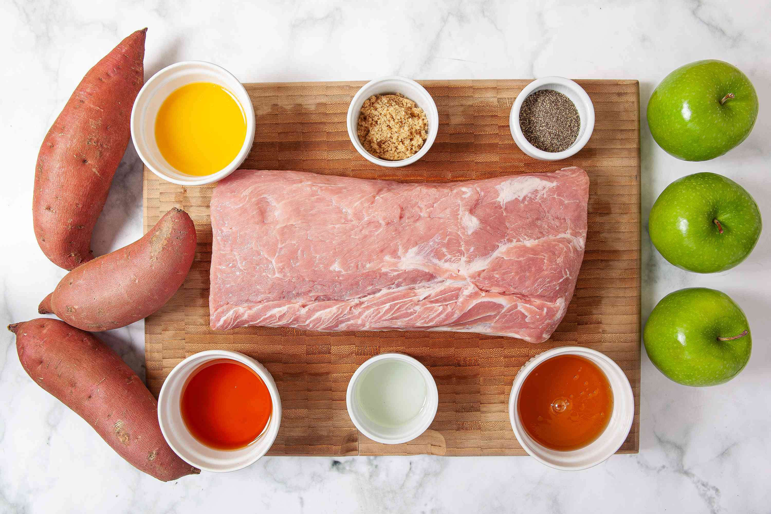 Roast Pork Loin With Sweet Potatoes and Apples ingredients