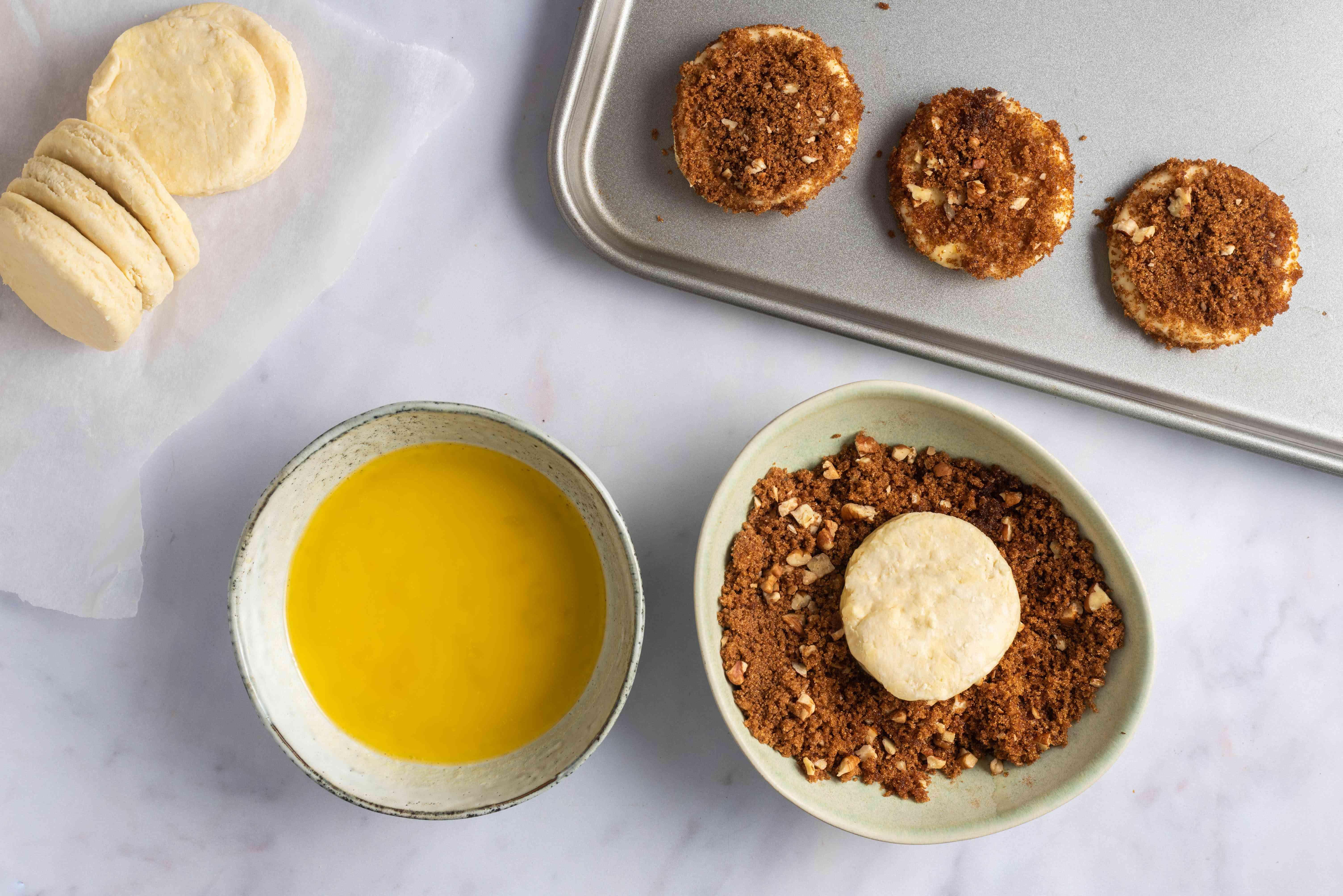 Dip cookie in dough