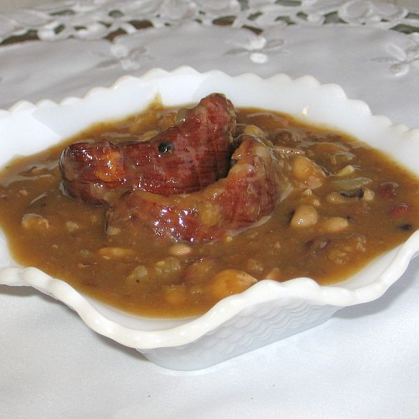 Croatian bean soup-stew or grah i varivah
