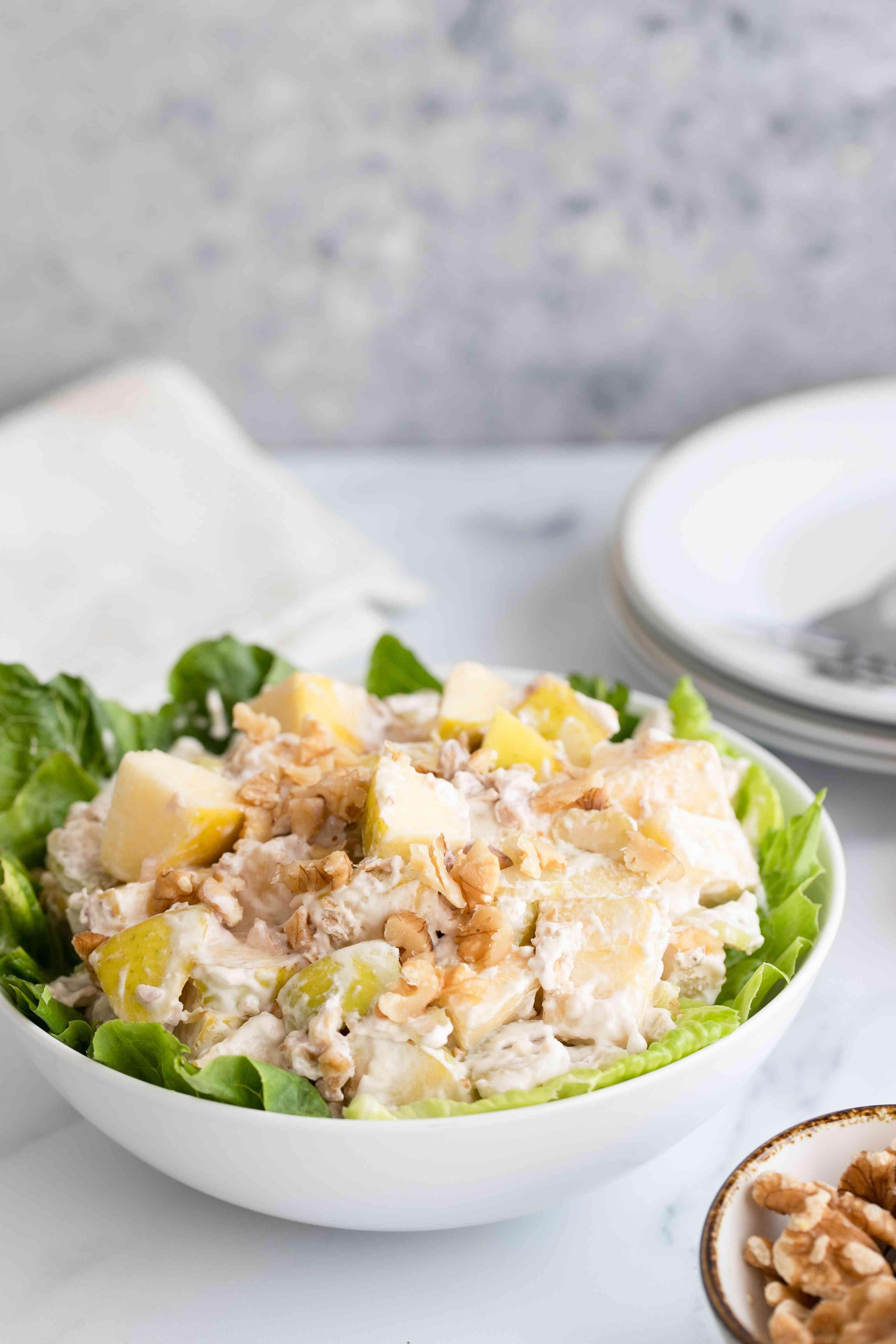 Serve salad