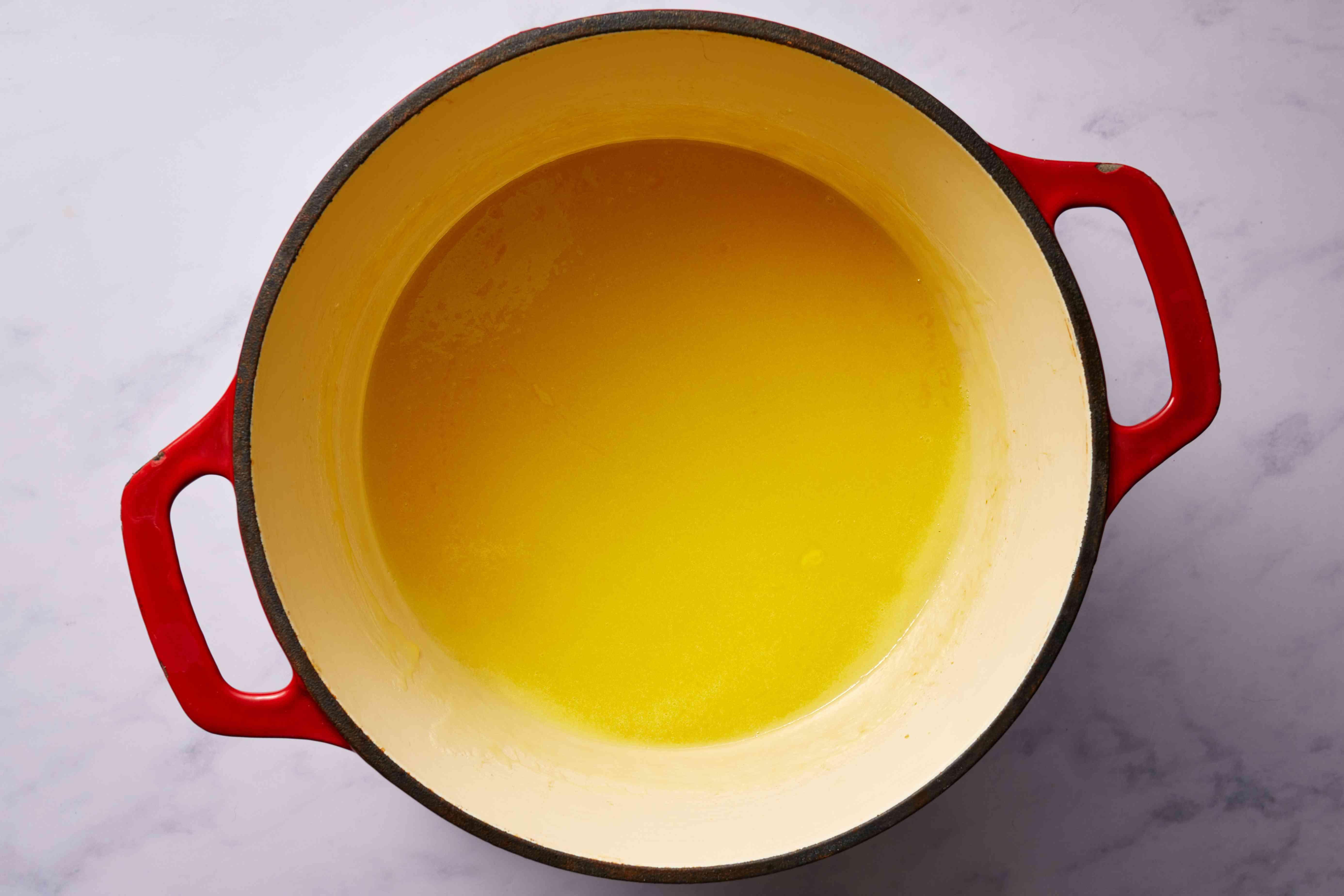 butter mixture in a saucepan