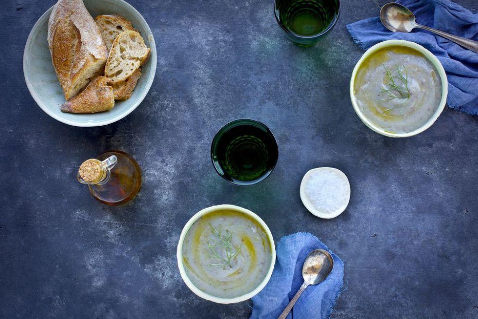 Sicilian Fava Bean and Fennel Soup