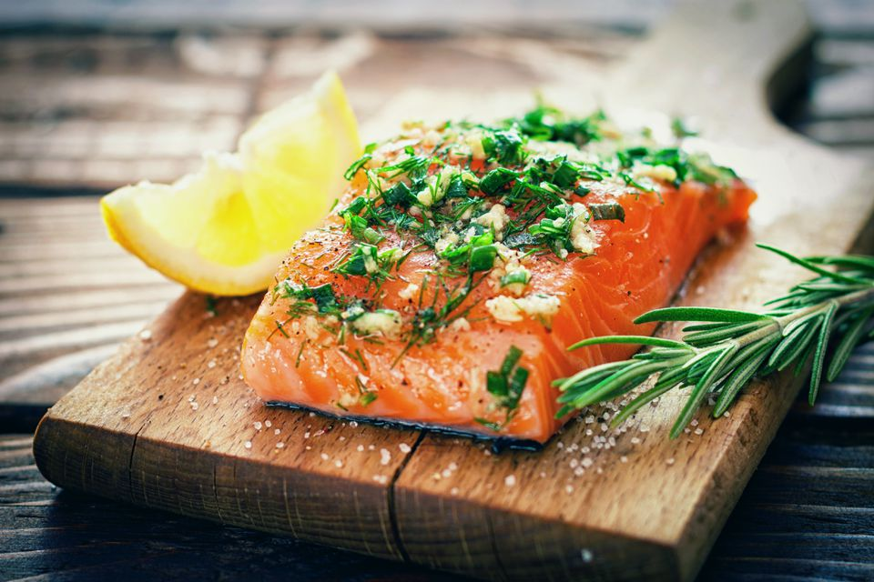 Salmon Fillet Wwith Fresh Herbs
