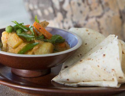 Massaman curry with chapatti